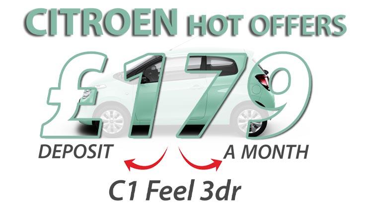Elect 3 | £1450 deposit contribution on the C1 Feel VTi 72 S&S manual 3-door